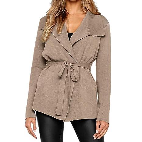 Mujer Suéter Cárdigan,Sonnena ❤ Suéter de color sólido para mujer Abrigo informal de