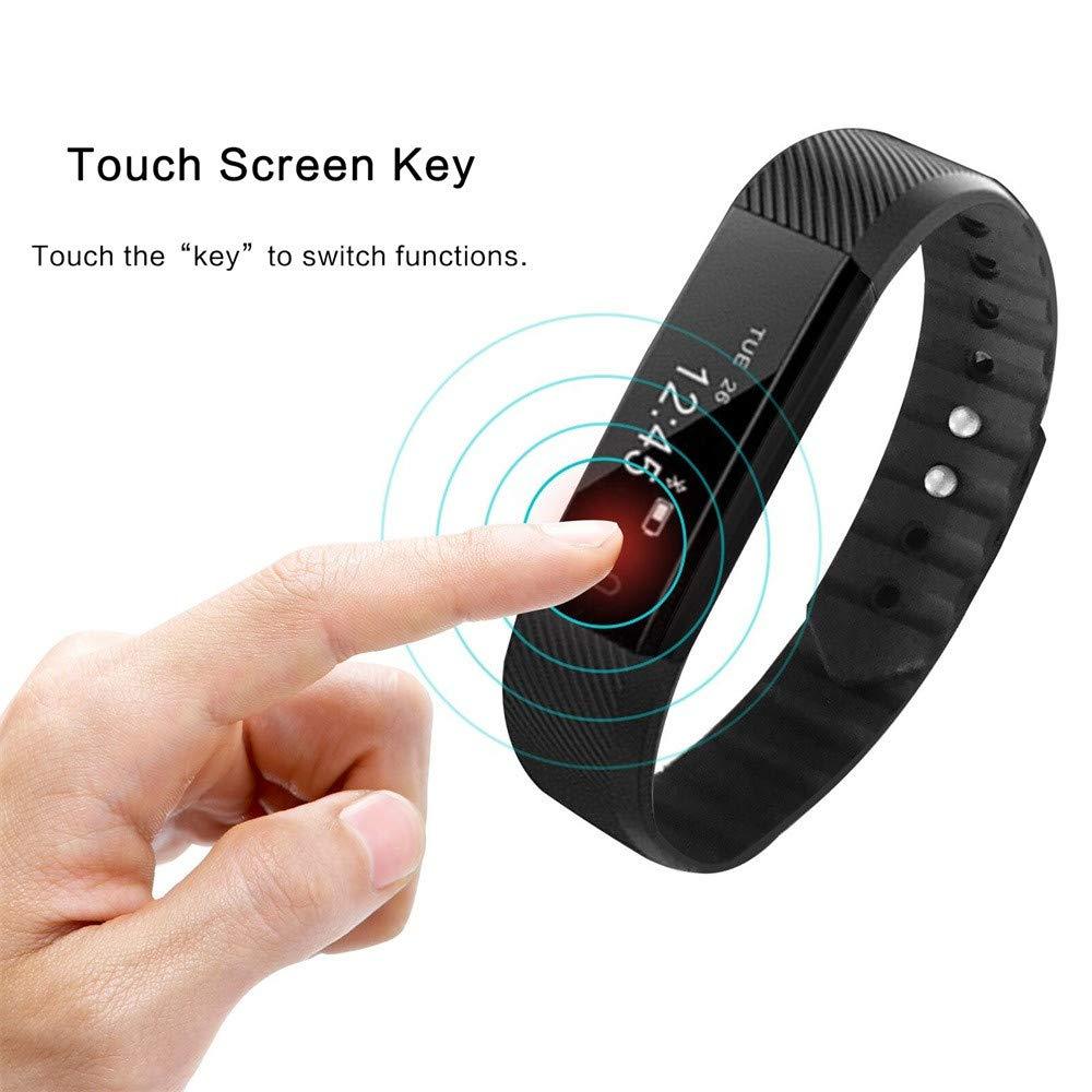 Amazon.com: Bluetooth Smart Watch Bracelet - Star_wuvi 0.87 ...