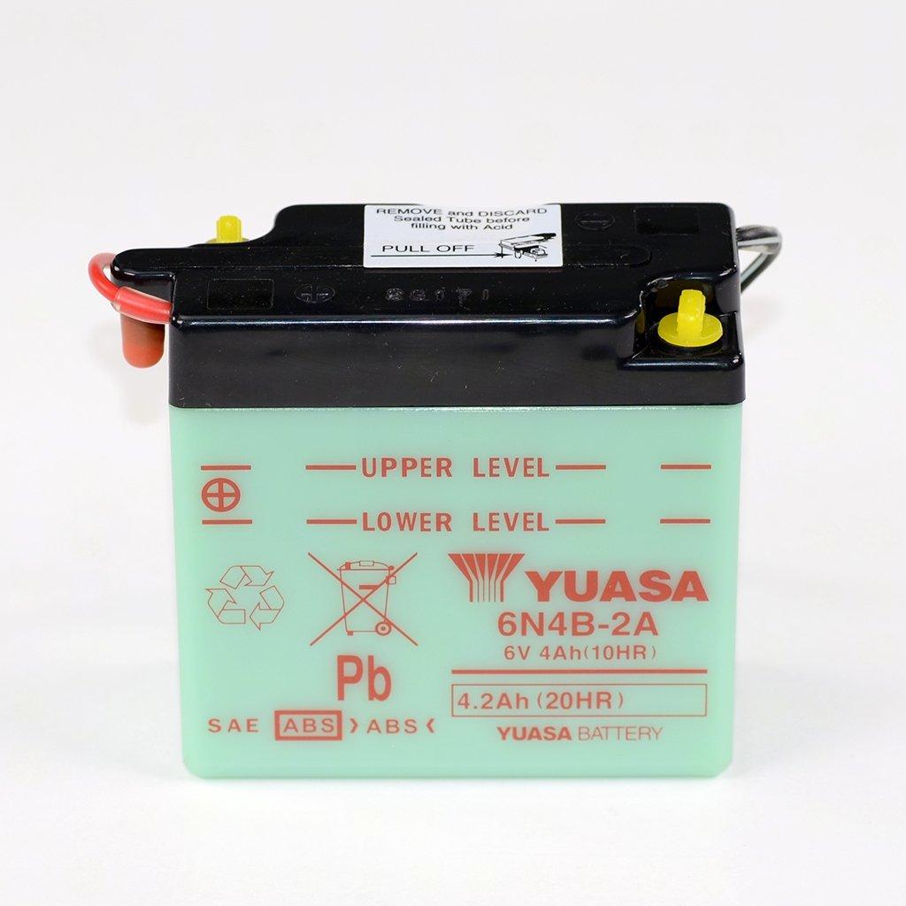Conventionnelle Yuasa DIN 00412 pour MZ TS 125 Suzuki GN 400 GN400 Suzuki DR 500 DR500 Suzuki DR 400 DR400 Suzuki GN 400 TD GN400 Suzuki GN 400 L GN400 Batterie 6V 4AH 6N4B-2A Suzuki GT