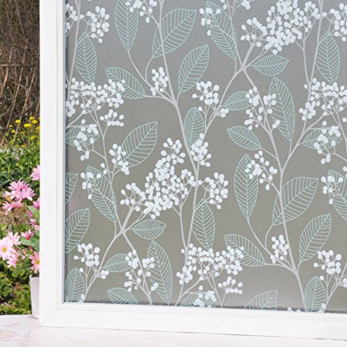 Christmas Decoration Window Sticker,Plastic static-free window sticker frosted bathroom the bathroom window stickers balcony light opaque window stickers-E by DECORATION