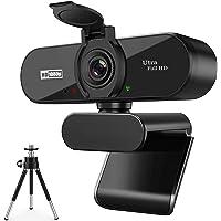 ARVIEMI Webbkamera – 2021 Streaming 1080P full HD-webbkamera med mikrofon, inbyggt integritetsskydd och stativ valfritt…