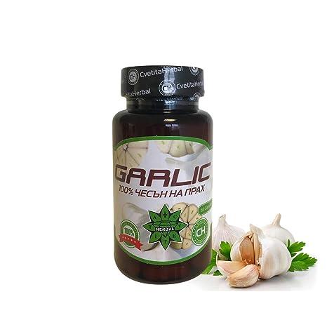 Cvetita Herbal, Garlic Ajo 100% polvo de ajo por 60 cápsulas ...