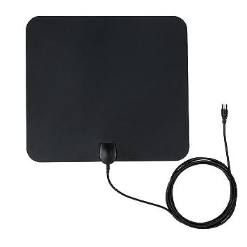 docooler antena digital con pantalla plana HD TV HDTV alto Gain 35 Miles ATSC DVB ISDB