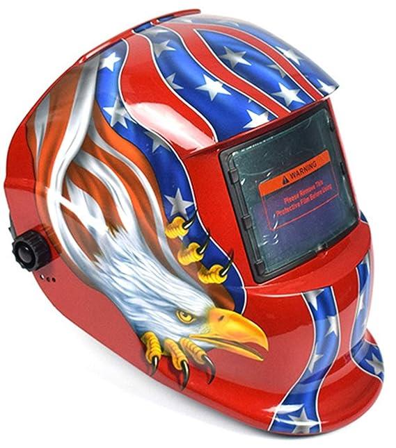 Icegrey Eléctrico Casco de Soldadura Automático Solar Energía Máscara de Fotosensible Máscara de Soldador Casco de Soldadura Rojo: Amazon.es: Bricolaje y ...