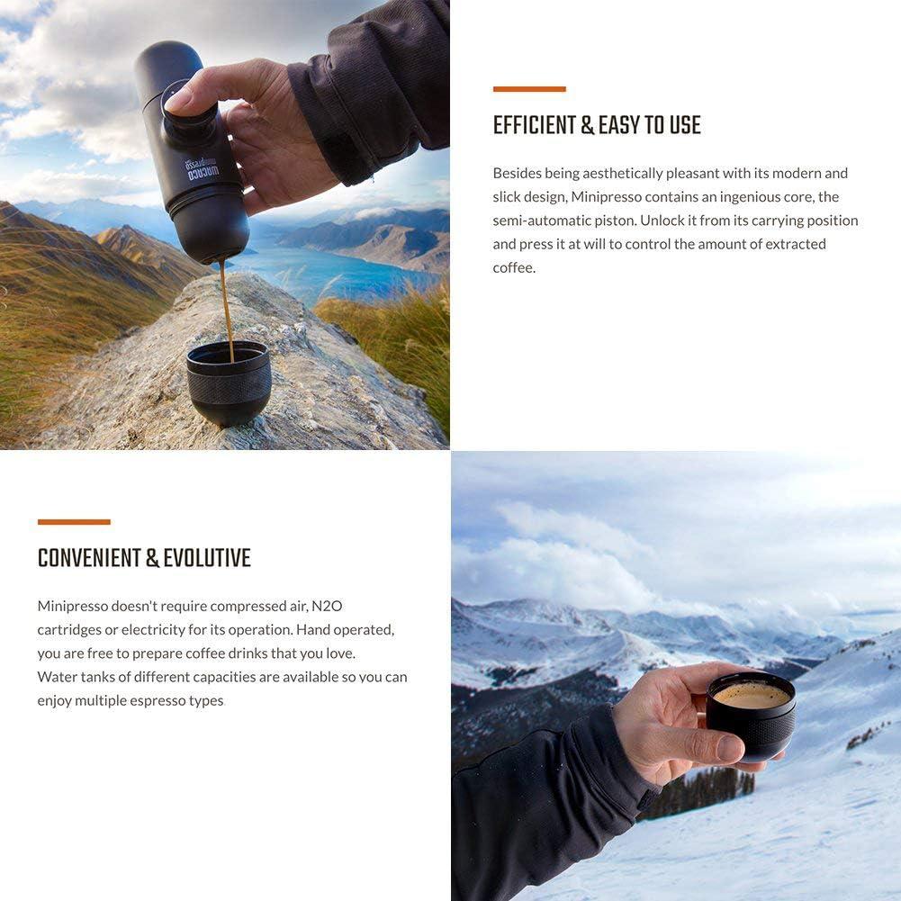 FXXJ Máquina de café Espresso portátil, café molido Compatible, cafetera de Viaje pequeña, operada manualmente Desde Piston Action: Amazon.es: Hogar