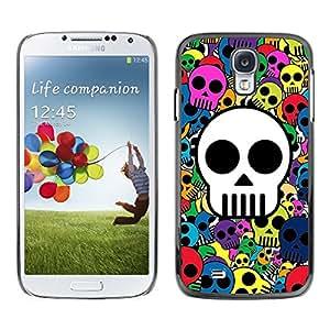 Cubierta protectora del caso de Shell Plástico || Samsung Galaxy S4 || Skull Wallpaper colorido dibujo Pirata @XPTECH