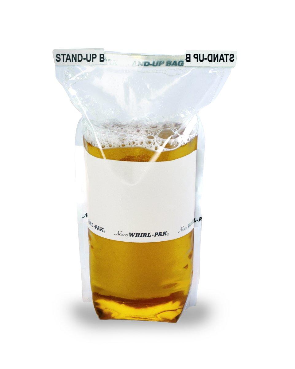 Nasco Whirl-Pak B01365WA Stand-Up Bag, 23cm L x 11.5cm W, 532 ml Capacity (Box of 500)
