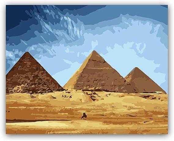 dxycfa Pintura para Colorear Bricolaje por números Pinturas de pirámides por números con Kits: Amazon.es: Juguetes y juegos