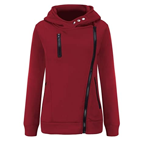 Amazon.com: Zipper Pullovers Sweater Womens,Hemlock Women Winter ...