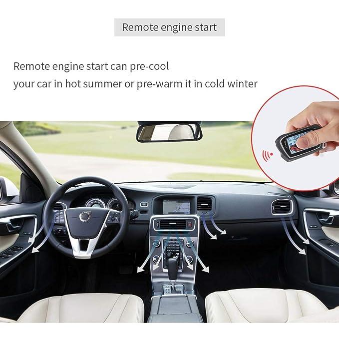EASYGUARD Sistema de Alarma de 2 vías EC201-M9 con Pantalla LCD Grande de 1,73 Pulgadas para Arranque a Distancia, Temporizador Turbo de Modo de Advertencia ...
