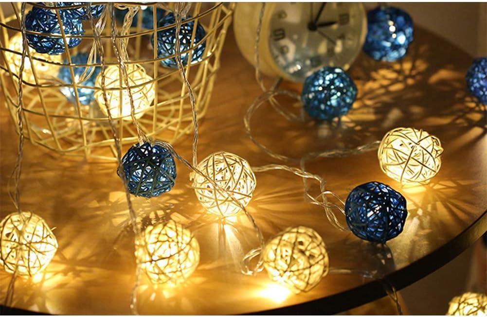 Longzhuo LED Licht Rattan Ball Voller Sterne Lichter Hochzeit Dekoration Lichter Kleine Lichter Drinnen Drau/ßenLichterkette Hauptdekoration Lichter Erntedank Halloween Weihnachten 4M