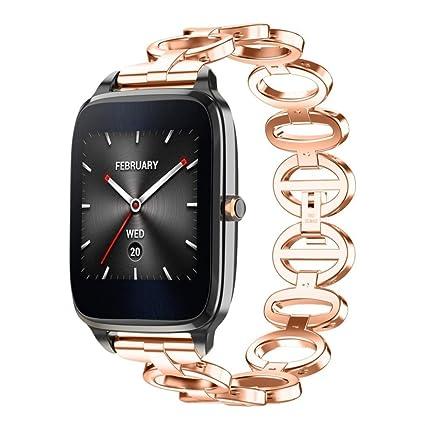 Diadia ZenWatch 2 lujosa correa de acero inoxidable para reloj de ...
