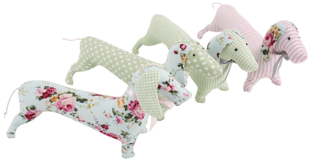 Pretty Fabric Decorative Sausage Dog Pin Cushion ~ Colour Vary (one ...