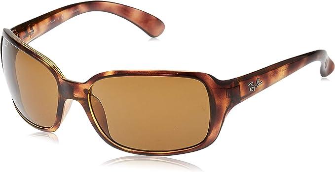 Ray- Ban Rb4068 - Gafas de sol, Rectangulares, Polarizadas, Marrón ...
