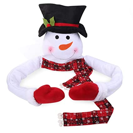 new concept 11c0e c6c4f Aparty4u Snowman Christmas Tree Topper, Snowman Hugger with Hat for  Christmas Tree Decorations