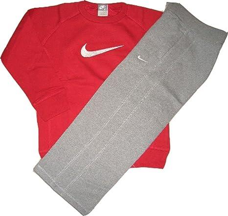 Nike Traje Little Boy s Suit Sudadera y pantalón rojo de gris ...