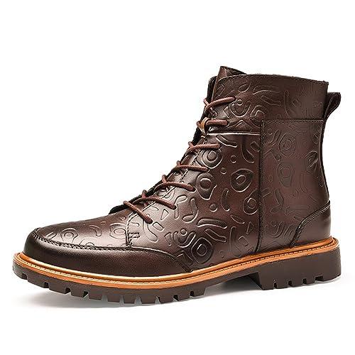 Ben Sports Hombre Tobillo Cómodo Motocicleta Combate Botas Calzado de trabajo Botines para hombre,forro de piel,Eu 38-47: Amazon.es: Zapatos y complementos