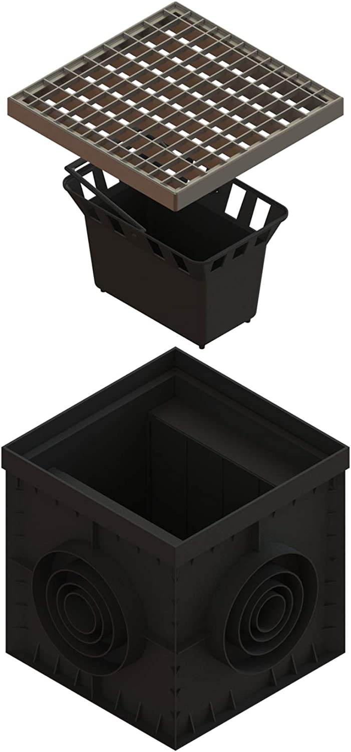 Standartpark 12 x 12 Catch Basin Galvanized Stamped Steel Grate – Partitions – and Debris Basket Package
