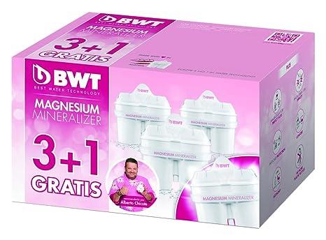 BWT Magnesium Mineralizer - Pack de 3+1 filtros de jarra de agua que mineralizan