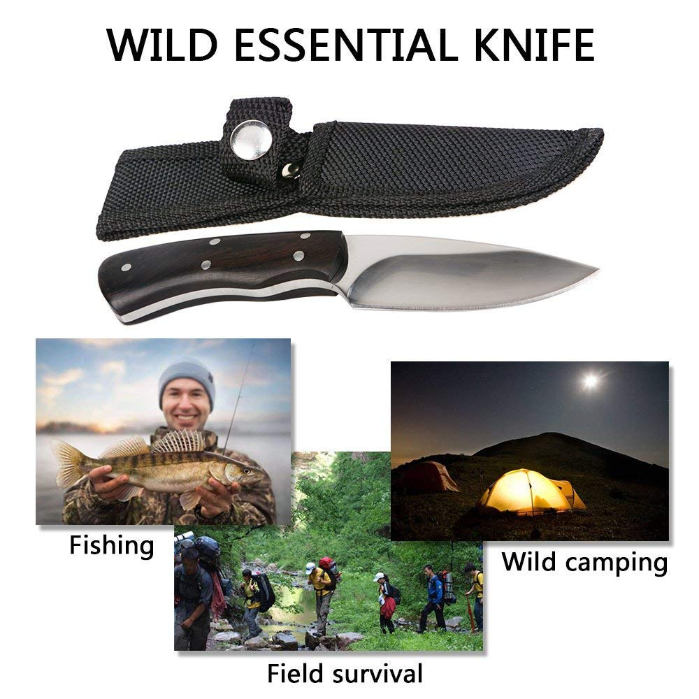 KTFNOMES Pocket Knives, 5.52 inches Mini Stainless Steel Outdoor Knife Sharp with Chef Knife/Knives & Tools/Best Choice for Survival, Camping, Craft, Gardenin by KTFNOMES (Image #9)