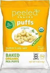 Peeled Snacks Organic Puffs, Butter and Sea Salt, 4 Ounce