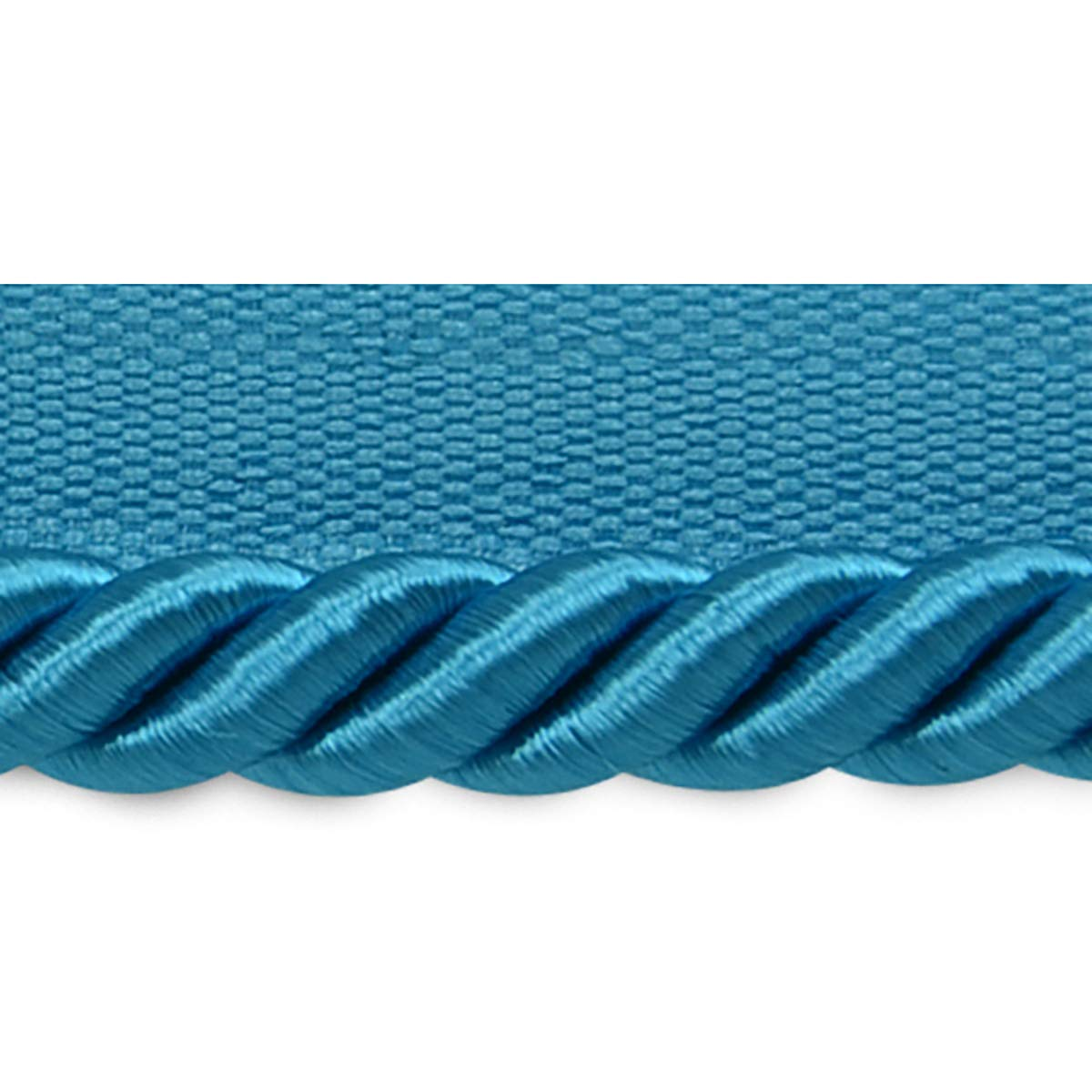 Hilda 3/8in Twisted Lip Cord Trim Turquoise (Precut 20 Yard) by Expo International Inc.