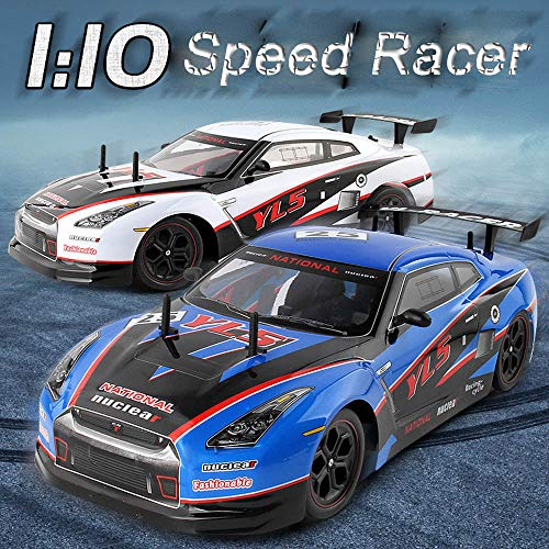 2.4GRC Vehicle High-Speed Racing RC Cars 1:10 Remote Control Best Gift for Kids (WH)