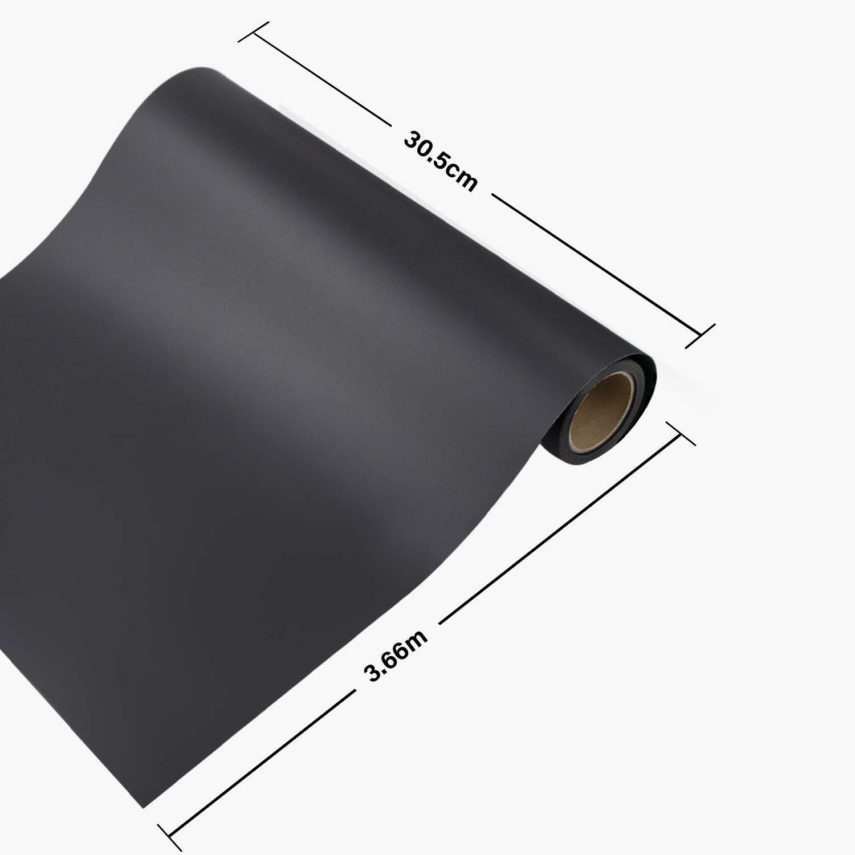 Schwarz Zwanzer Flexfolie,30.5cm/× 3.66m Plotterfolie Textil f/ür Cricut und Silhouette Cameo,Verwendet in DIY-T-Shirt-Kleidung und Anderen Stoffen