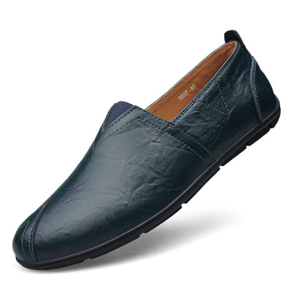 Zapatos de Hombre, Primavera/Otoño Zapatos de Conducción de Cuero Casuales Mocasines y Slip-Ons Amortiguación, Ventilación, Resistencia al Desgaste, Desodorización (YAN) 44 EU|Un
