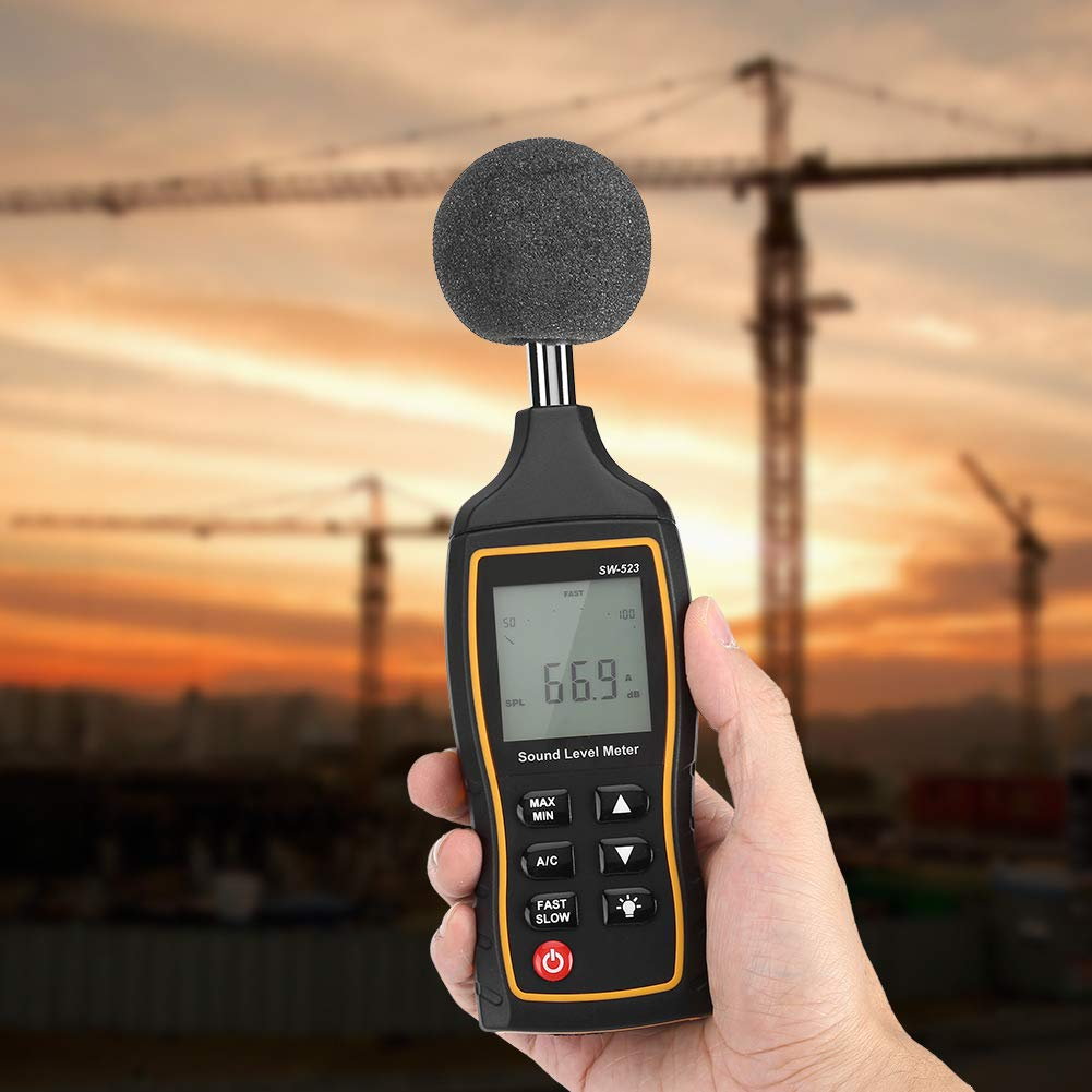 Construction Site for Home Traffic Road 【2021 New Years Special】30~130dB Measure 2.56 x 1.1 x 8.27inch Noise Meter Decibel Meter Plastic Sound Meter