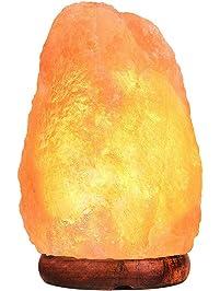 PULNDA Himalayan Salt Lamp PULNDA Glow Natural Hand Carved Rock Salt Lamp  With Neem Wood Base