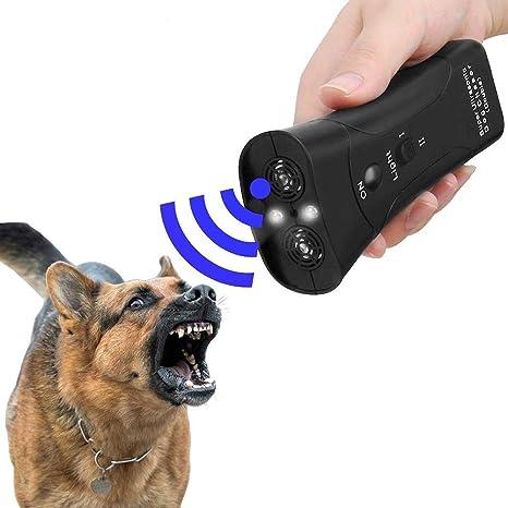 Ultrasonic Anti Dog Barking Pet Trainer LED Light Gentle Chaser Petgentle Style.