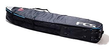 FCS Longboard doble de viaje con ruedas Grey Tabla de Surf Bag - 274.32 cm 2