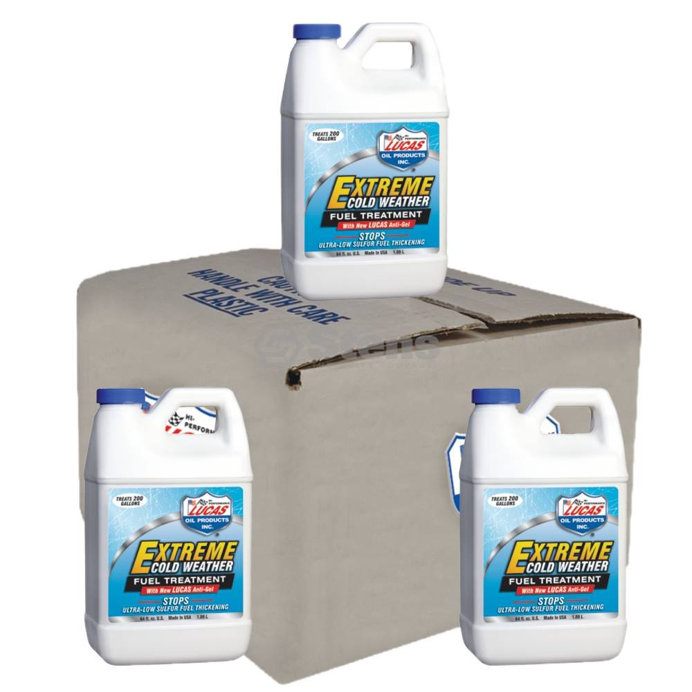 Fuel Treatment Cold FITS Wther w/Anti-gel 6 Btls/.5 Gal Lucas Oil 10021 Stens by Stens