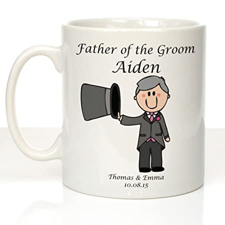 personalised father of the groom mug father of the groom presents