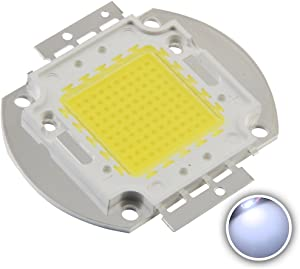 CHANZON High Power Led Chip 100W Cool White (9000K-10000K / 3000mA / DC 30V-34V / 100 Watt) Super Bright Intensity SMD COB Light Emitter Components Diode 100 W Bulb Lamp Beads DIY Lighting