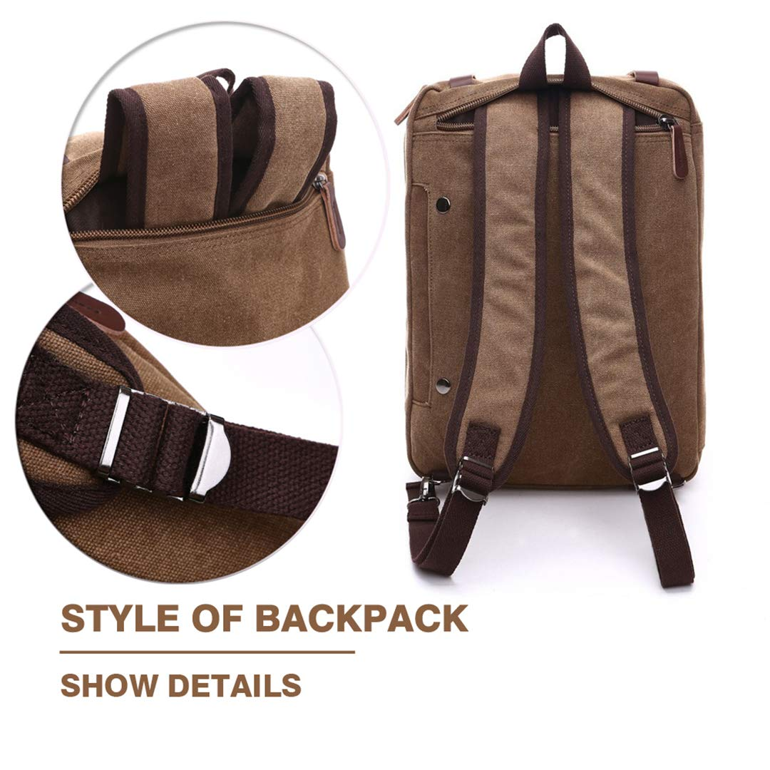 Canvas Leather Men Travel Bags H Luggage Duffel Bags Travel Tote Hide The Shoulder Strap H bags Brown
