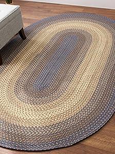 Amazon Blue Indoor & Outdoor Rug Braided Textured