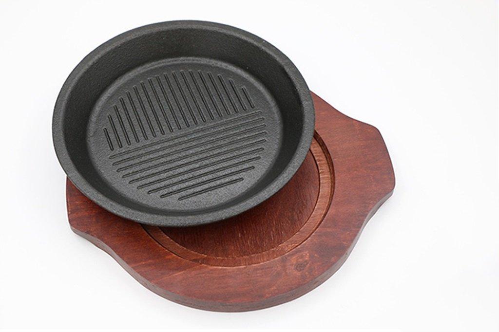 キッチン鉄板焼き鉄板ライスグリルパン揚げ西洋ステーキ板誘導調理器焼きパン   B07S493C78