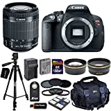 Canon EOS Rebel T5i Digital SLR Camera with EF-S 18-55mm IS STM Lens + Tele & Wide Lenses + Neutral Density Filters ND2,ND4,ND8 + 15pc 32GB Deluxe Accessory Kit - International Version