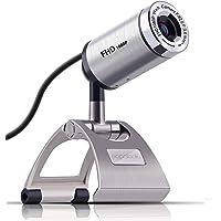 Webcam para PC, PAPALOOK PA150S Full HD 1080p/30fps Videollamadas, Cámara Web con Micrófono Incorporado y Enfoque Manual…