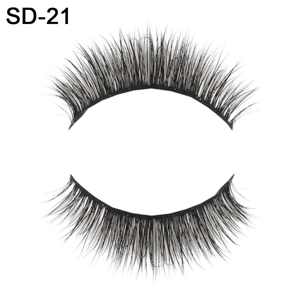 oce180anylv 1/Pair naturale spessore ciglia 3d Faux Mink Natural False Fake Eyelashes Thick Eye Lashes Extension