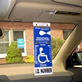 handicap accessories for cars - VisorTag® Vertical Mount VTD110 by JL Safety- The Best Way to Protect, Display & Swing Away a Handicap Parking Placard. Best Handicapped Placard Cover and Protector on the Market. Don't Settle for a Cheap Handicap Cover that you purchase over and over, get a VisorTag® for life. 100% Satisfaction Guaranteed. Patented & Proudly Made in USA.