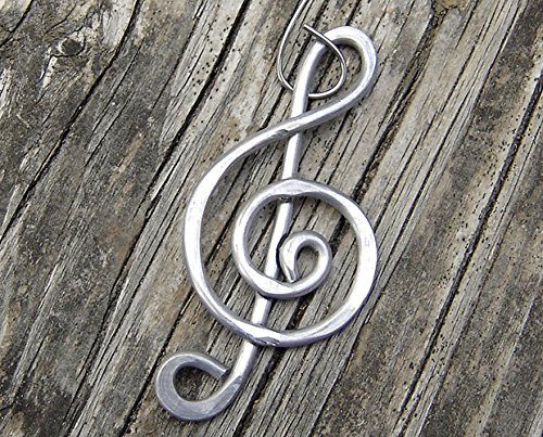 Treble Clef Music Ornament, Musicians Gift Handmade in Oregon - In Usa Musicians