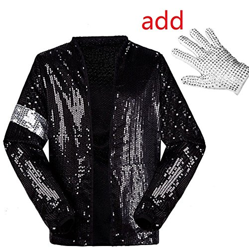CIGUO Adult Child MJ Billie Jean Jacket Suit Dance Cosplay Costume MJ001j-xxl -