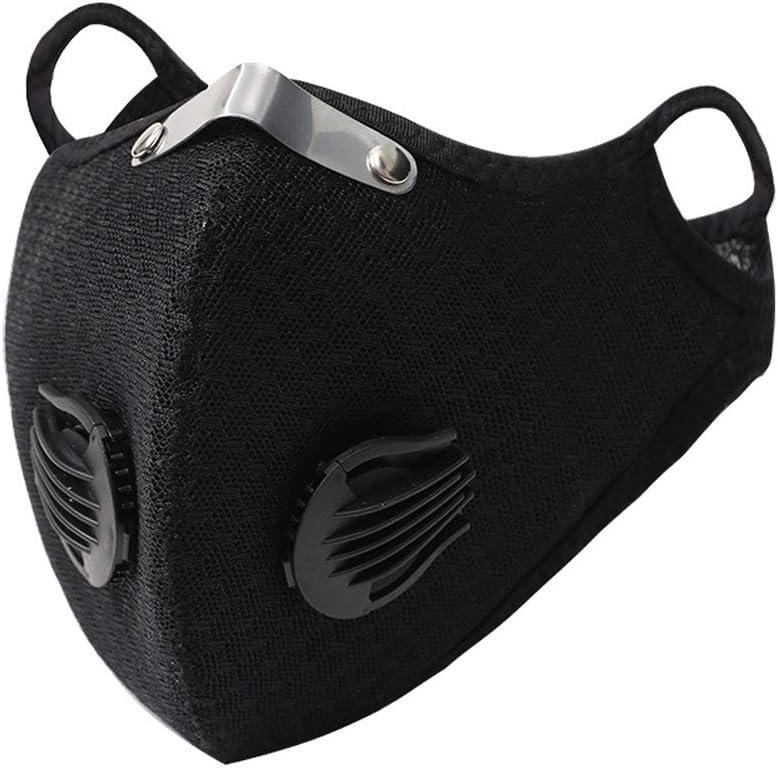 Decdeal - Protección facial de ciclismo, protección facial deportiva al aire libre para hombres y mujeres, filtro de 5 capas