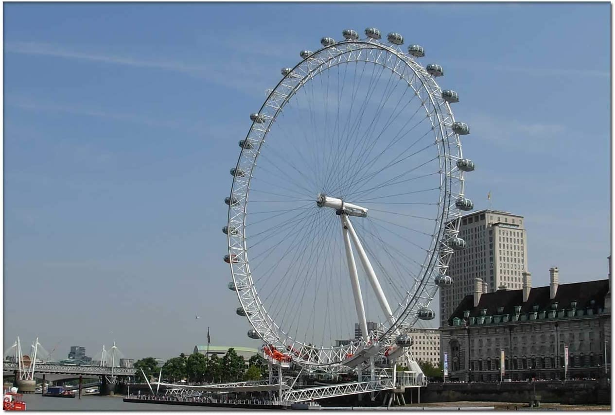 Wall Art Canvas Painting - London Eye Modern Artwork for Living Room Wall Decor and Home D¡§?cor Framed Ready to Hang DIY Your Photos 8