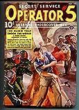 Operator #5 11/1938-Popular-hero pulp-Woman menaced with flamethrower