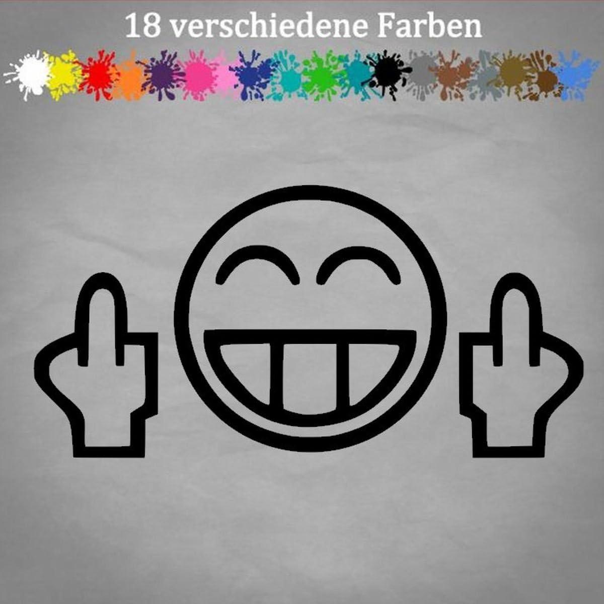 Generic Mittelfinger 20x10cm Smiley Auto Aufkleber Golf Opel Gti Tuning Jdm Oem Sticker In 18 Farben Auto