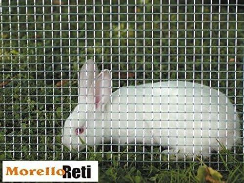 RETE METALLICA ZINCATA ANTITOPO GABBIE ELETTROSALDATA 6.3 x 6.3 0.7   h 100 cm